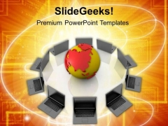 Global Connectivity With Internet PowerPoint Templates Ppt Backgrounds For Slides 0613
