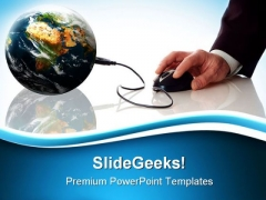 Global Earth Mouse PowerPoint Templates And PowerPoint Backgrounds 0211