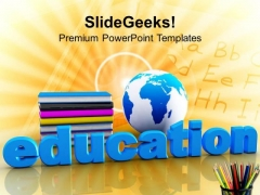 Global Education Concept With Books Future PowerPoint Templates Ppt Backgrounds For Slides 0113