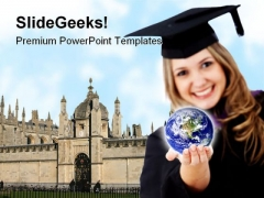 Global Education Youth PowerPoint Backgrounds And Templates 1210