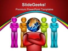 Global Leader People PowerPoint Template 0910