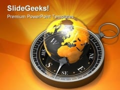 Global Navigation Geographical PowerPoint Themes And PowerPoint Slides 0211