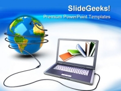 Global Network Books Education PowerPoint Templates And PowerPoint Backgrounds 0211