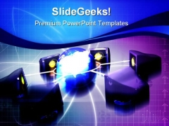 Global Networking Communication PowerPoint Templates And PowerPoint Backgrounds 0711