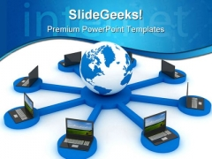 Global Networking Computer PowerPoint Templates And PowerPoint Backgrounds 0211