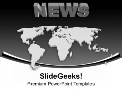 Global News Is Very Important For Busines PowerPoint Templates Ppt Backgrounds For Slides 0513