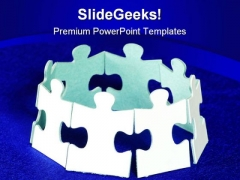 Global Puzzle Communication PowerPoint Themes And PowerPoint Slides 0711
