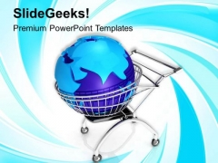 Global Shopping Concept With Shopping PowerPoint Templates Ppt Backgrounds For Slides 0313