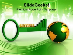 Global Success Key Business Concept PowerPoint Templates Ppt Backgrounds For Slides 0313