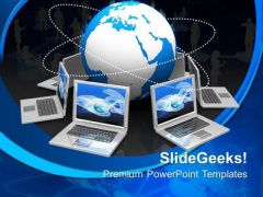 Global Target Computer PowerPoint Templates And PowerPoint Themes 0612