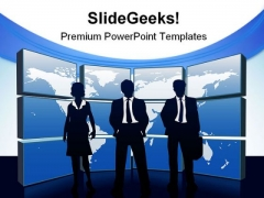 Global Team Business PowerPoint Themes And PowerPoint Slides 0811