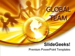 Global Team Globe PowerPoint Templates And PowerPoint Backgrounds 0311