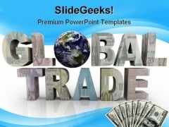 Global Trade Earth PowerPoint Backgrounds And Templates 1210