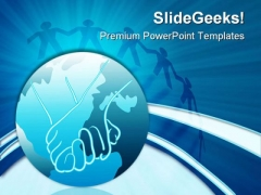 Global Unity Globe PowerPoint Themes And PowerPoint Slides 0511