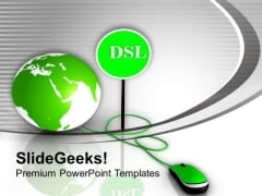 Global Virus Protection By Dsl PowerPoint Templates Ppt Backgrounds For Slides 0313