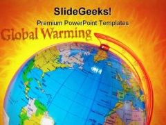 Global Warming Globe PowerPoint Themes And PowerPoint Slides 0511
