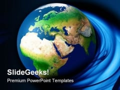 Globe Earth PowerPoint Template 0910