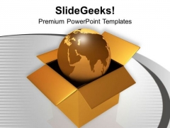 Globe In Brown Box Global Issues PowerPoint Templates Ppt Backgrounds For Slides 0213