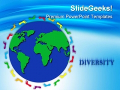Globe Trotting Earth PowerPoint Templates And PowerPoint Backgrounds 0211