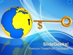 Globe With Key Business Success Ecology PowerPoint Templates And PowerPoint Themes 0812