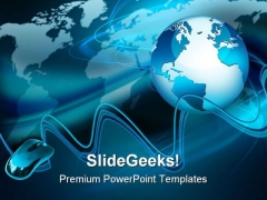 Globe With Mouse Internet PowerPoint Templates And PowerPoint Backgrounds 0211