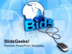 Globe With Word Bids And Mouse PowerPoint Templates Ppt Backgrounds For Slides 0113