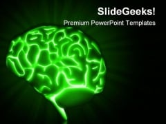 Glowing Brain Medical PowerPoint Templates And PowerPoint Backgrounds 0611