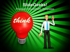 Glowing Bulb With An Idea Creativity Business PowerPoint Templates Ppt Backgrounds For Slides 0113