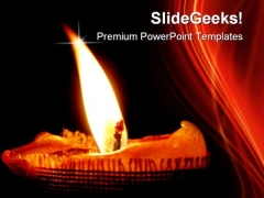 Glowing Candle Festival PowerPoint Themes And PowerPoint Slides 0511