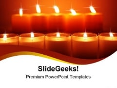 Glowing Candles Festival PowerPoint Templates And PowerPoint Backgrounds 0611