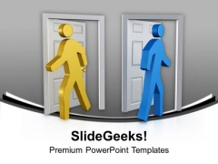 Go And Come Out From Business Risk PowerPoint Templates Ppt Backgrounds For Slides 0513
