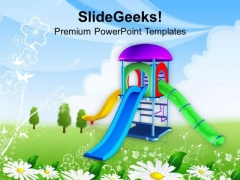 Go And Play In Playground This Summer PowerPoint Templates Ppt Backgrounds For Slides 0613