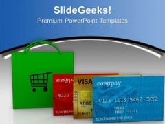 Go For Shopping With Debit Cards PowerPoint Templates Ppt Backgrounds For Slides 0513