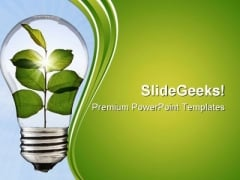 Go Green Environment PowerPoint Templates And PowerPoint Backgrounds 0611