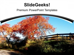Go Green With Autumn Season Theme PowerPoint Templates Ppt Backgrounds For Slides 0513