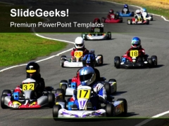Go Kart Race Sports PowerPoint Themes And PowerPoint Slides 0711