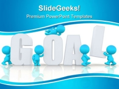 Goal Complete Business PowerPoint Template 1110