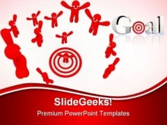 Goal Concept Leadership PowerPoint Themes And PowerPoint Slides 0711