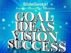 Goal Ideas Vision Success White PowerPoint Templates And PowerPoint Themes 1012