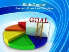 Goal Of Business Depends On Growth Pie Chart PowerPoint Templates Ppt Backgrounds For Slides 0413