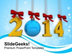 Goals New Year 2014 PowerPoint Template 1113