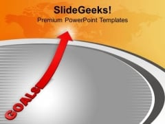 Goals With Arrow Going Upward PowerPoint Templates Ppt Backgrounds For Slides 0413