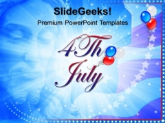 God Bless America 4th July PowerPoint Templates And PowerPoint Themes 0612