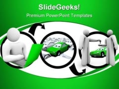Going Online To Find Car Internet PowerPoint Themes And PowerPoint Slides 0411
