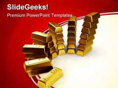 Gold Bars Finance PowerPoint Themes And PowerPoint Slides 0511