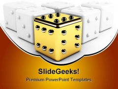 Gold Dice Winning Leadership PowerPoint Templates And PowerPoint Backgrounds 0211