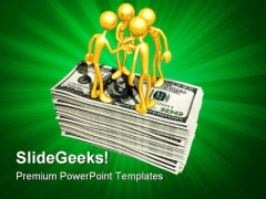 Gold Guys With Money PowerPoint Templates And PowerPoint Backgrounds 0511