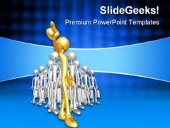 Gold Team Leader Leadership PowerPoint Templates And PowerPoint Backgrounds 0611