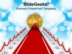 Golden Ball For Achievement In Business PowerPoint Templates Ppt Backgrounds For Slides 0413