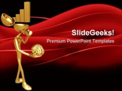 Golden Bar Graph Business PowerPoint Templates And PowerPoint Backgrounds 0611